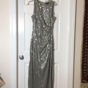 Stunning silver sequin Lauren gown